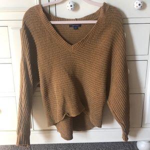 mustard AE sweater